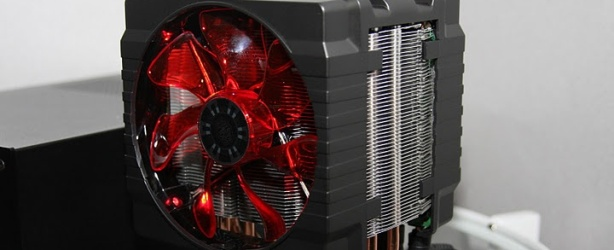 CoolerMaster V6 Heatsink with PC (image credit: PC Perspective)