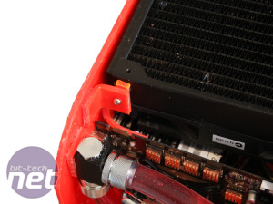 Scratchbuilt PC: cooling system and water-cooling feature  Scratchbuilt PC - mounting the radiator and pump
