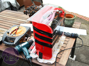 Scratchbuilt PC: More water-cooling and the roof section Water cooling and bending the roof