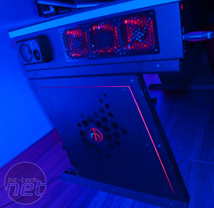Red Harbinger Cross PC Desk available to pre-order