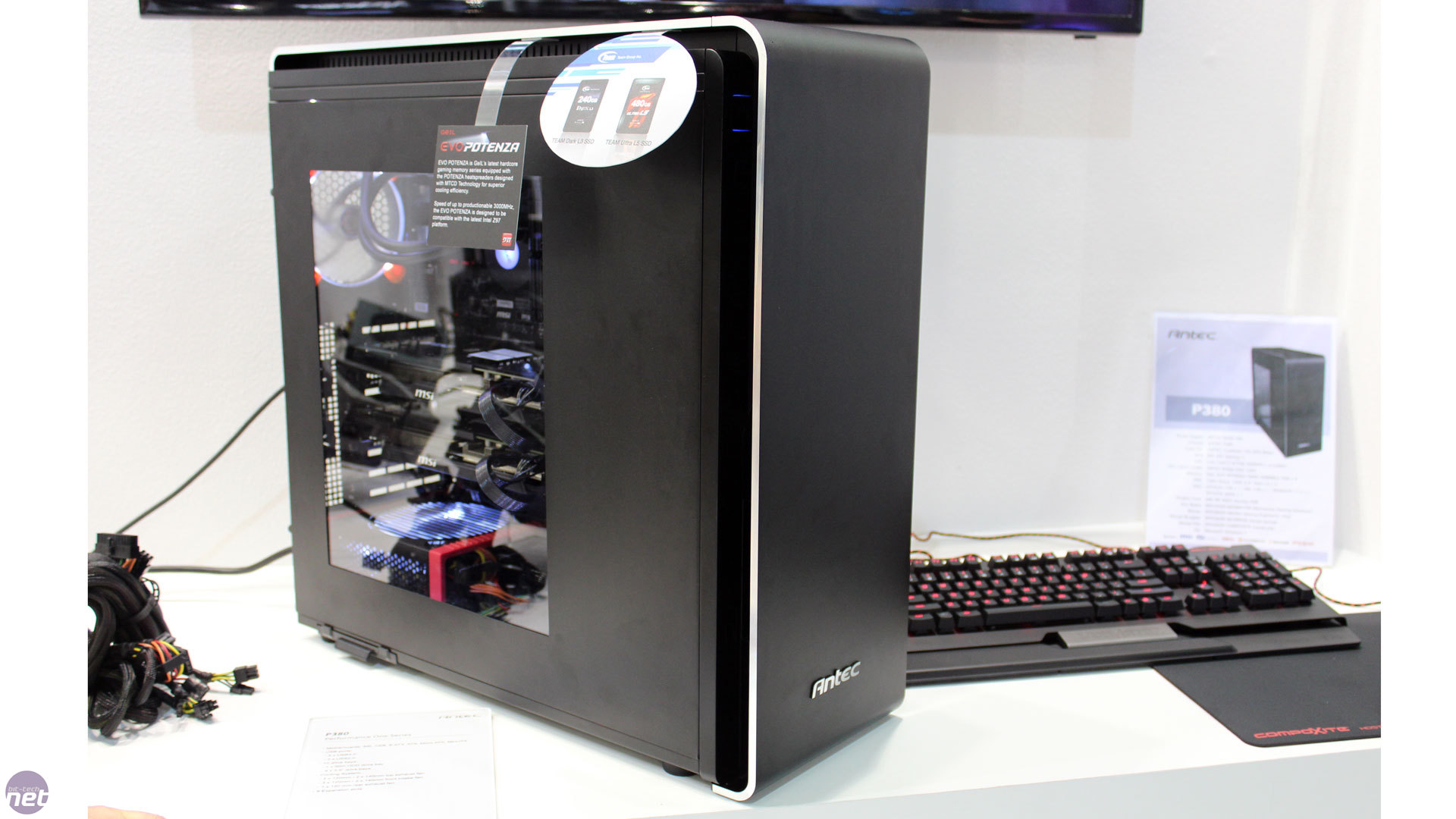 The Antec Performance One P380 medium tower casing.