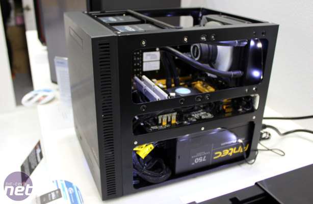 More mini-ITX casing choices with the ISK600. Should you wish to install a Kühler H2O liquid cooling kit, it can easily accommodate them as shown in this photo. (Photo courtesy of bit-tech.net)