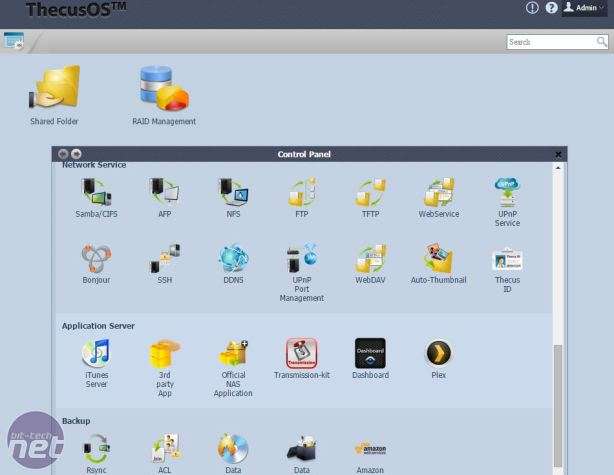 *Thecus N4310 Review Thecus N4310 Review  - Operating system and Features
