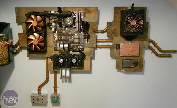 Bit-tech Modding Update - September 2015 in association with Corsair Rustic Wall Mounted PC Build by ChrisHowell