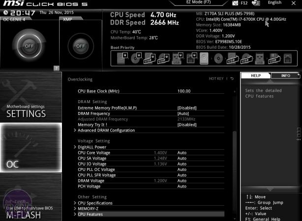 MSI Z170A SLI Plus Review MSI Z170A SLI Plus Review - Overclocking and EFI