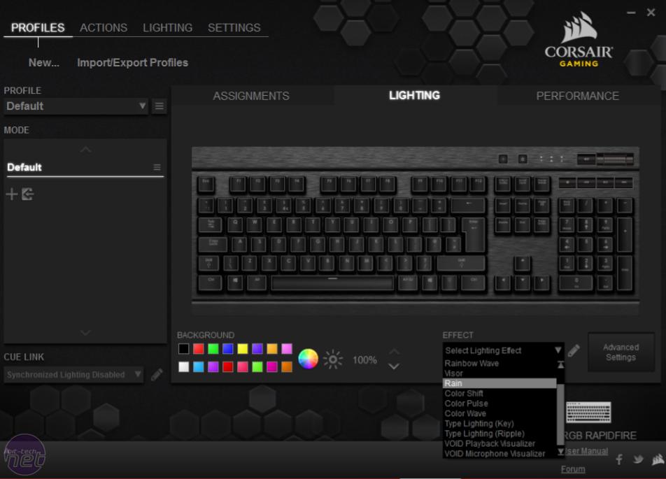 Corsair K70 RGB Rapidfire Review | bit-tech net