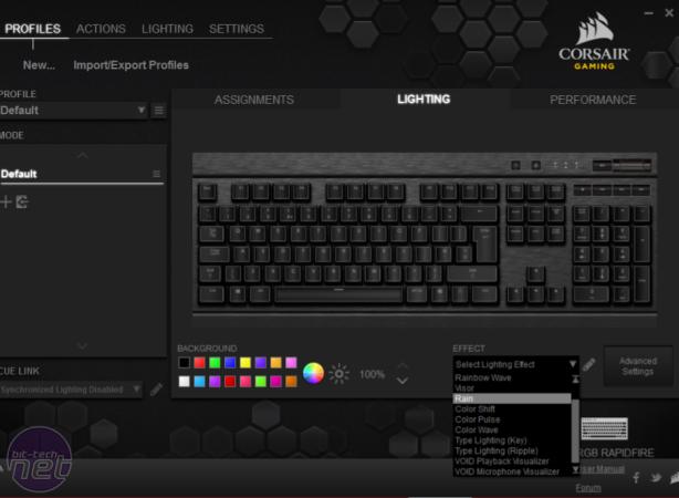 Corsair K70 RGB Rapidfire Review Corsair Gaming K70 RGB Rapidfire Review - Software and Conclusion