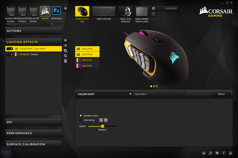 corsair scimitar how to set profile as default