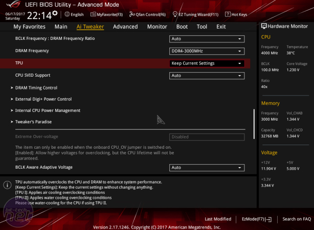 Asus ROG Strix X299-E Gaming Review Asus ROG Strix X299-E Gaming Review - Software, EFI and Overclocking