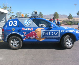 Stanford SUV wins DARPA desert race