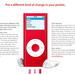 Apple launches iPod red for AIDS awareness