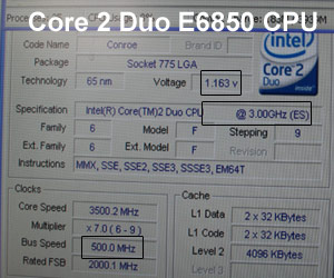 Core 2 Duo E6850 does 500MHz FSB on Gigabyte board