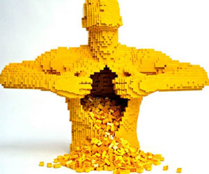 Living LEGO - a sculpture