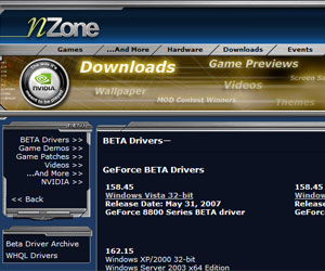 Nvidia pulls 162.15 driver from nZone