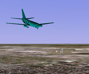 Google Earth now has flight simulator