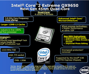 Intel preps 45nm quad-core for launch