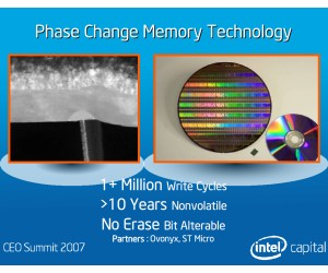 Intel doubles phase change memory