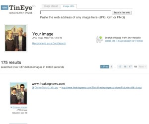 Image-based search with TinEye