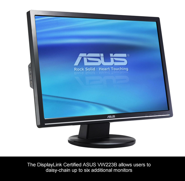 ASUS AND DISPLAYLINK DELIVER MULTI-DISPLAY CAPABILITY WITH NEW LCD MONITORS