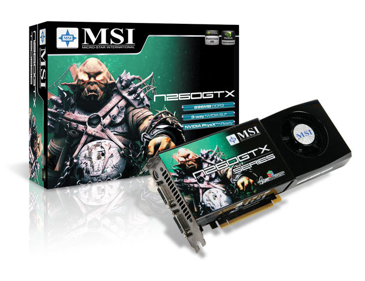 MSI launches N280GTX and N260GTX series graphics cards.