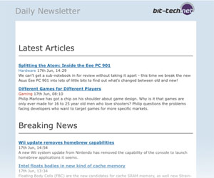 bit-tech Newsletters are now available!