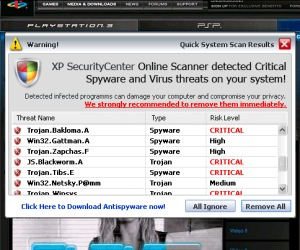 Sony site offers up malware