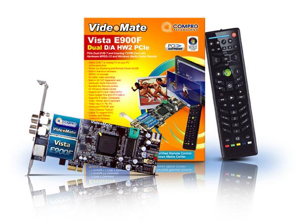 VideoMate Vista E900F PCIe Dual DVB-T & Analog TV/FM Card Released