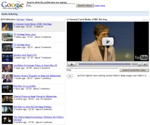 Google introduces audio indexing