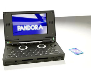 Pandora handheld console dated and priced