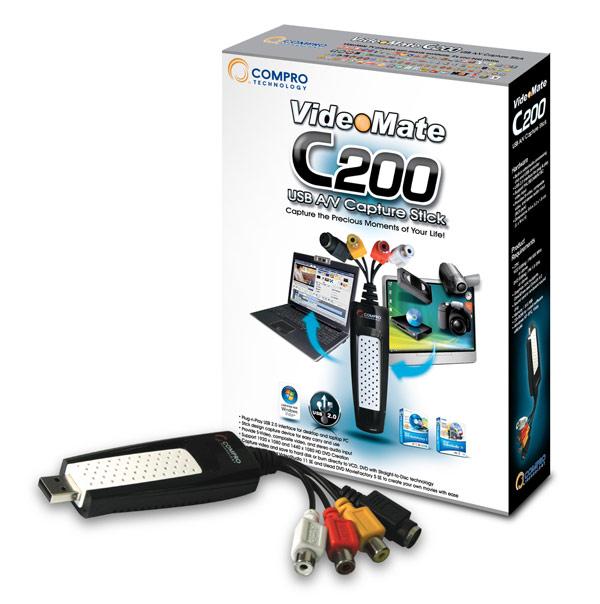 Compro VideoMate C200 USB A/V Capture Stick