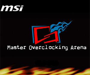 MSI's Master Overclocking Arena starts tomorrow