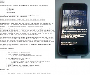 Hackers boot Linux on iPhone