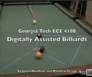 Hackers create digitally assisted billiards