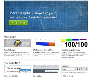 Opera 10 Alpha 1 released