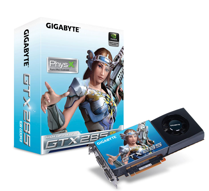 GIGABYTE Unveils All-new 55nm GeForce GTX285 Graphics Accelerator