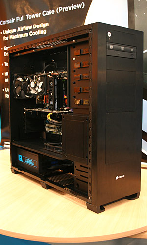 Corsair will make cases, has TEC cooled memory CeBIT 09: Corsair will make cases, has TEC cooled
