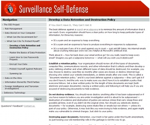 EFF launches Surveillance Self-Defence