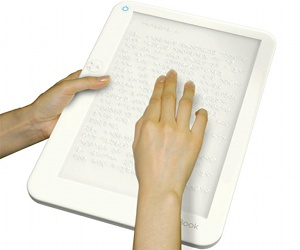 Team post Braille ebook concept