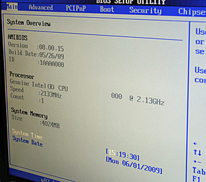 Core i5 BIOS and Device Manager pictured Core i5 BIOS and Windows shot, shot