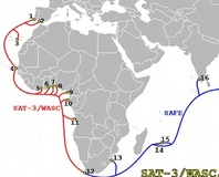 Cable fault disconnects West Africa