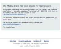 Security breach downs Mozilla Store