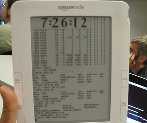 Hacker runs Ubuntu on Amazon Kindle