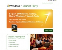 Host a party, get Windows 7 free