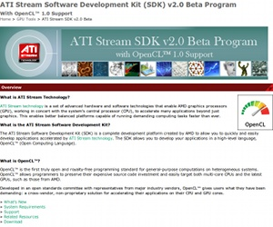 ATI Stream SDK now supports GPU-accelerated OpenCL