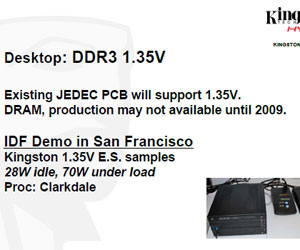 Kingston leaks Clarksdale demo ran DDR3 at 1.35V