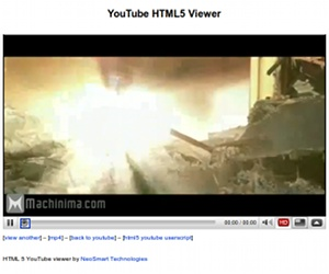YouTube gets (unofficial) HTML 5 support