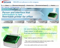 The PrePeat reusable printer