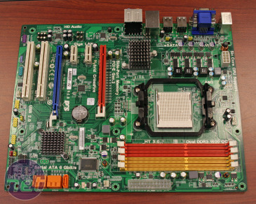 Full ATX ECS 880G motherboard detailed ECS shows its 880G motherboard & chipset