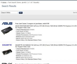 Nvidia GeForce GTX 465 already available to buy