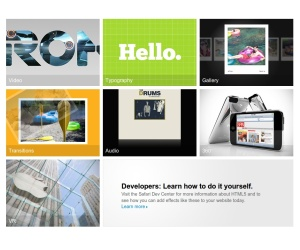 Apple launches HTML 5 demo site